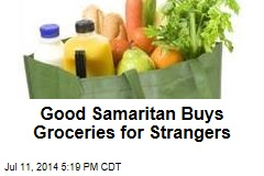Good Samaritan Buys Groceries for Strangers