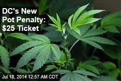 DC's New Pot Penalty: $25 Ticket