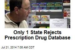 Only 1 State Rejects Prescription Drug Database