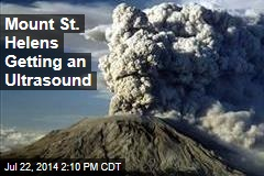 Mount St. Helens Getting an Ultrasound