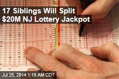 17 Siblings Will Split $20M NJ Lottery Jackpot