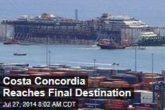 Costa Concordia Reaches Final Destination