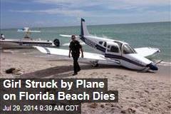 Girl Struck by Plane on Florida Beach Dies
