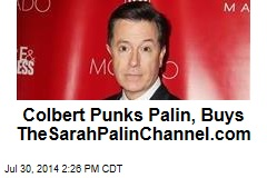 Colbert Punks Palin, Buys TheSarahPalinChannel.com