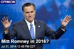 Mitt Romney in 2016?