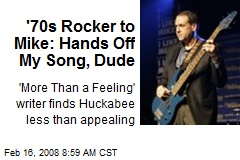 '70s Rocker to Mike: Hands Off My Song, Dude