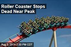 Roller Coaster Stops Dead Near Peak