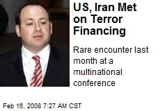 US, Iran Met on Terror Financing