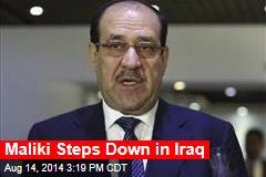 Maliki Steps Down in Iraq