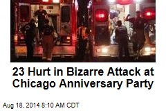 23 Hurt in Bizarre Attack at Chicago Anniversary Party