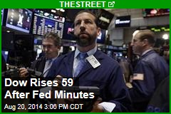 Dow Rises 59 After Fed Minutes