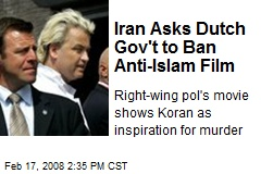 Iran Asks Dutch Gov't to Ban Anti-Islam Film
