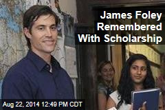 James Foley Remembered With Scholarship