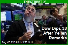 Dow Dips 38 After Yellen Remarks
