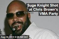 Suge Knight Gets Shot at Chris Brown's VMA Party