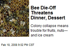 Bee Die-Off Threatens Dinner, Dessert
