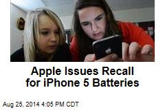 Apple Issues Recall for iPhone 5 Batteries