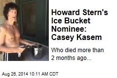 Howard Stern's Ice Bucket Nominee: Casey Kasem