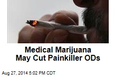 Medical Marijuana May Cut Painkiller ODs