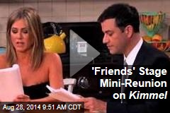 'Friends' Stage Mini-Reunion on Kimmel