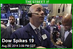 Dow Spikes 19
