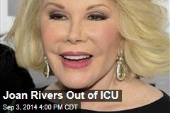 Joan Rivers Out of ICU