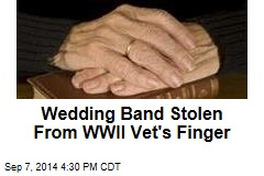 Robber Takes Wedding Band From Old Man's Finger