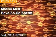 Macho Men Have So-So Sperm