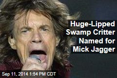 Huge-Lipped Swamp Critter Named for Mick Jagger