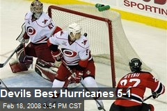 Devils Best Hurricanes 5-1