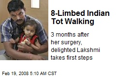 8-Limbed Indian Tot Walking
