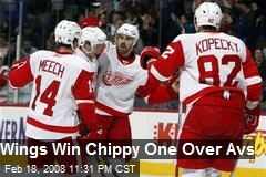 Wings Win Chippy One Over Avs