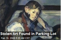 Stolen Art Found in Parking Lot
