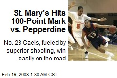 St. Mary's Hits 100-Point Mark vs. Pepperdine