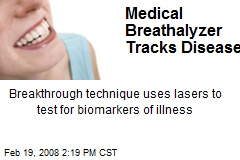 Medical Breathalyzer Tracks Disease
