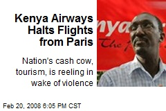 Kenya Airways Halts Flights from Paris