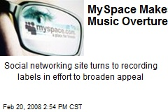 MySpace Makes Music Overtures