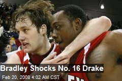 Bradley Shocks No. 16 Drake