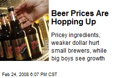 Beer Prices Are Hopping Up