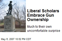 Liberal Scholars Embrace Gun Ownership