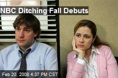 NBC Ditching Fall Debuts