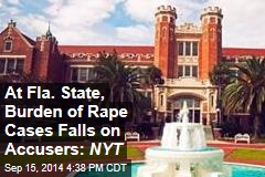 At Fla. State, Burden of Rape Investigation Falls on Accusers: NYT