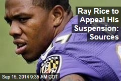 Ray Rice to Appeal His Suspension: Sources
