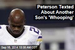 Peterson Texted About Another Son's 'Whooping'