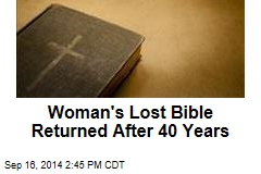 Woman's Lost Bible Returned After 40 Years