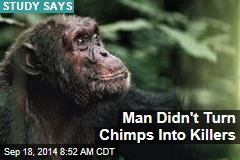 Man Didn't Turn Chimps Into Killers