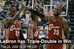LeBron has Triple-Double in Win