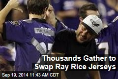 Thousands Gather to Swap Ray Rice Jerseys