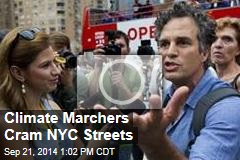 Climate Marchers Cram NYC Streets