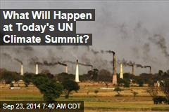 What Will Happen at Today's UN Climate Summit?